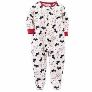 Carter's Scotty Dog Footie Pajamas 18M NWT